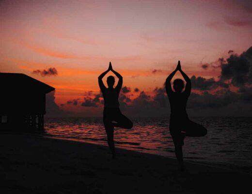 Beach Yoga Maldives