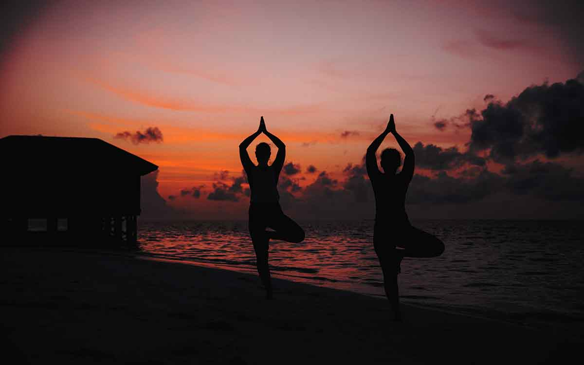 Beach Yoga Maldives