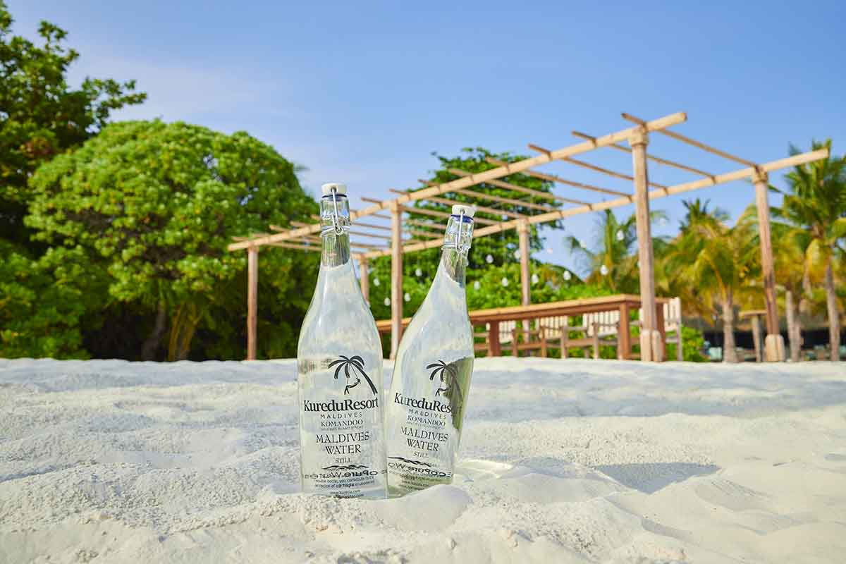 Sustainable Glass Water Bottles @ Kuredu Island Resort & Spa Maldives