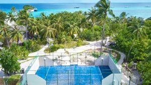 Padel tennis court at Kuredu Maldives