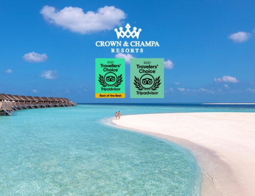 Crown & Champa Resorts Wins 6 TripAdvisor Travellers' Choice Awards