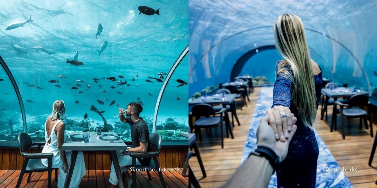 The Maldives' Most Instagrammable Spots - 5.8 Undersea Restaurant